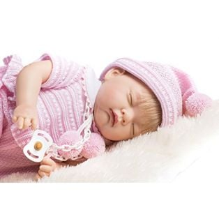 Marina & Pau Pink Frilly Romper & Hat Set 43 -  45cm alternate image