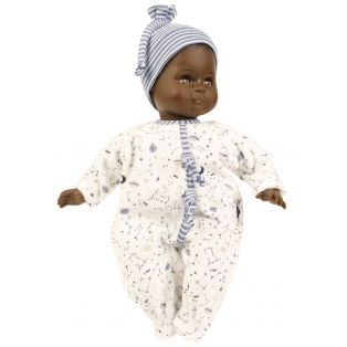 Schildkrot Schlummerle Sonny Black African Brown Vinyl Baby Doll 32cm