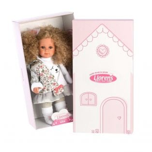 Llorens Elena 35cm Toddler Doll Blonde Curly Hair Sleepy Bear alternate image