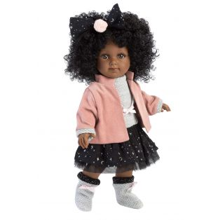 Llorens Zuri 35cm Toddler Doll Black African Doll