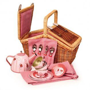 Egmont Toys Tin Tea Set Ladybug in a Basket