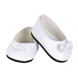 Petitcollin White Shoes to fit Petit Calin, Calinette and Caline 28cm Dolls