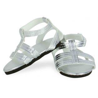 Petitcollin Finouche Silver Sandals (also fit Starlette)
