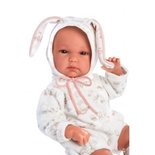 Llorens Baby Girl Doll 35cm Bunny with Carrycot - Anatomically Correct alternate image