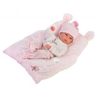 Llorens Baby Girl Doll 35cm Newborn Baby In Bunny Print