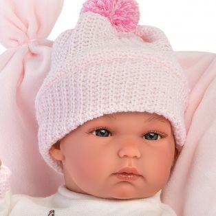 Llorens Baby Girl Doll 35cm Newborn Baby In Bunny Print alternate image