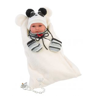 Llorens Newborn Baby Girl Doll Panda Anatomically Correct Soft Touch Vinyl 35cm