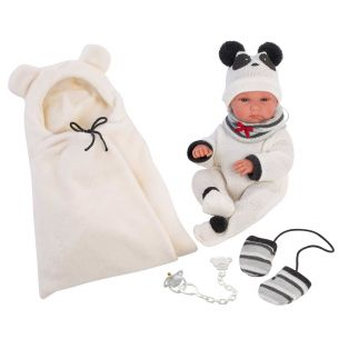 Llorens Newborn Baby Girl Doll Panda Anatomically Correct Soft Touch Vinyl 35cm alternate image