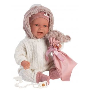 Llorens Baby Girl Doll Mimi Laughing With Car Seat 42cm alternate image