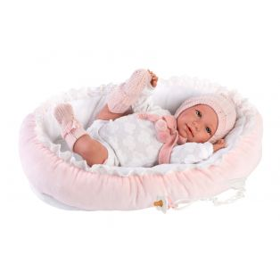 Llorens Baby Girl Doll Mimi With Cocoon, 42cm