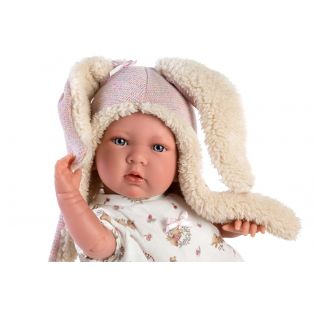 Llorens Baby Girl Doll Mimi Cries With Rabbit Ears 42cm alternate image