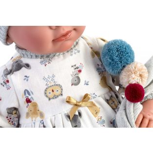 Llorens  Newborn Baby Doll Mimi In Grey Cries, 42cm alternate image