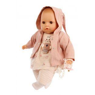 Schildkrot Sleepy Eye Amy Doll & Dummy In Pink Hood 45cm