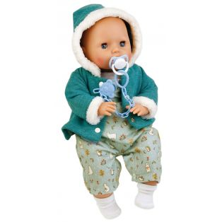 Schildkrot Baby Doll Amy Mint Winter Clothes 45cm
