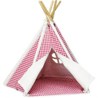 Petitcollin Mini-Teepee Red Check 55 x 35cm