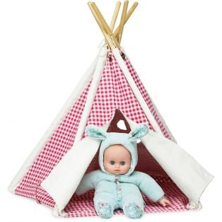 Petitcollin Mini-Teepee Red Check 55 x 35cm alternate image