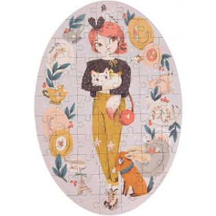 Moulin Roty Constance Doll Jigsaw Puzzle, Les Parisiennes, 65 Pieces alternate image