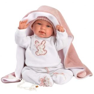Llorens Baby Doll Tina With Blanket, 44cm