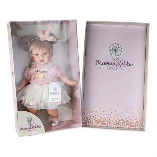 Marina & Pau Toddler Girl Doll In Happy Birthday Outfit 43cm alternate image