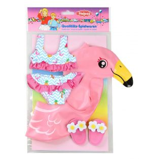 Heless Flamingo Bikini, Sliders and Inflatable 'Ella' 35-45cm