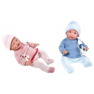 Vestida de Azul Baby Girl & Boy Sleepy Eye TWINS 38cm