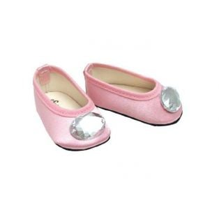 Sophia's Gem Shoes (Pink Satin)