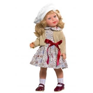 Vestida de Azul Coral Blonde Doll in Traditional Dress, 45cm