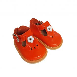 Wagner Doll Shoes Group 4 Style Tiny Blossom - ORANGE