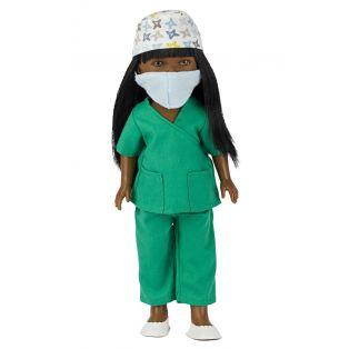 Frontline Workers Surgeon Black Doll Brandy, 28cm