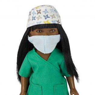 Frontline Workers Surgeon Black Doll Brandy, 28cm  alternate image