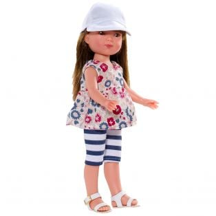 Vestida de Azul Carlota 28cm Doll (Brunette - shorts)
