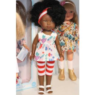 Carlota African Doll in Printed Striped Capris alternate image