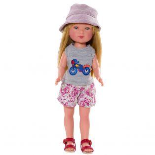 Vestida de Azul Carlota Blonde Doll In Shorts 28cm