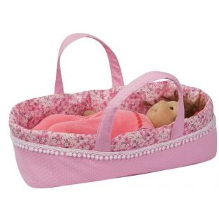 Ciao Bimba Baby Doll Crib  (Moses, Cradle, Bed, Carry Cot) in Pink, 30cm