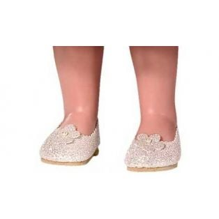 Vestida de Azul CORAL DOLL Gold Glitter Shoes 45cm