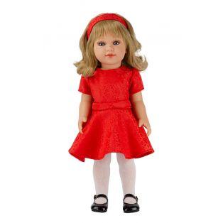 Vestida de Azul Coral Blonde Doll in Red Dress, 45cm