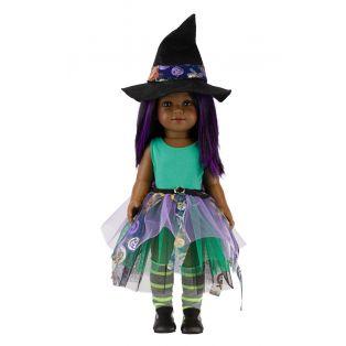 Vestida de Azul Coral African 18 Inch Halloween Doll Black/ Purple Hair, 45cm