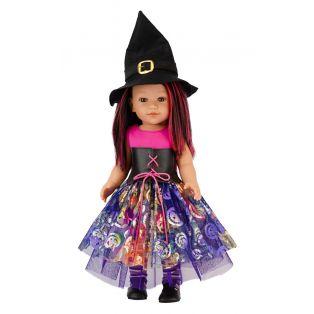 Vestida de Azul Coral Brunette/ Red 18 Inch Halloween Doll 45cm