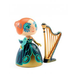 Djeco Art Toys Princess Elisa & Ze Harpe, 7cm