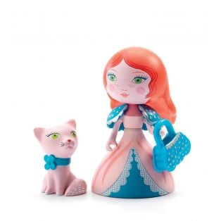 Djeco Art Toys Princess Rosa & Cat, 7cm