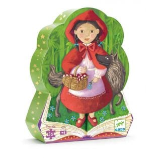 Djeco Silhouette Puzzle Little Red Riding Hood, 36 pcs