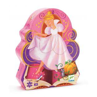 Djeco Silhouette Puzzle Cinderella, 36 pcs