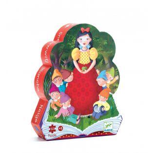 Djeco Silhouette Puzzle Snow White, 50 pcs