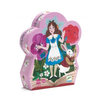 Djeco Silhouette Puzzle Alice In Wonderland, 50 pcs