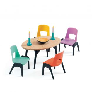 Djeco Petit Home Collection Furniture For Doll's House - The Dining Room