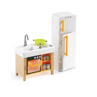 Djeco Petit Home Collection Furniture For Doll's House - Compact Kitchen