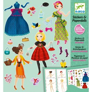 Djeco Stickers & Paper Dolls Book - Massive Fashion