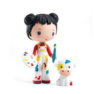 Djeco Tinyly Figurine - Barbouille & Gribs, 7.5cm