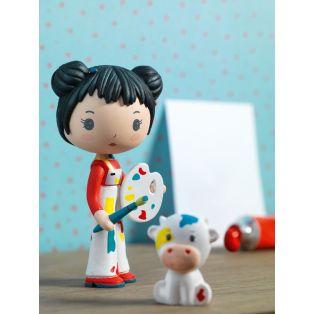 Djeco Tinyly Figurine - Barbouille & Gribs, 7.5cm alternate image