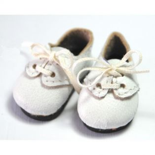 Boneka Lace-Up Shoes 38mm x 17mm  White